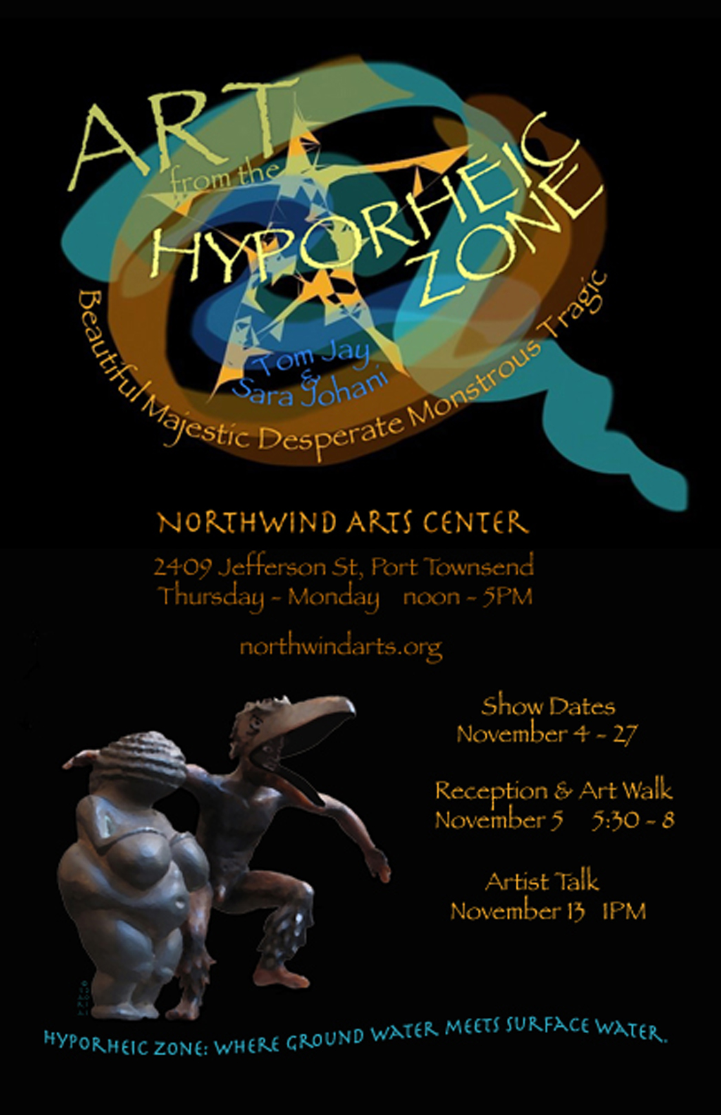 Poster for The Hyporheic Zone exhibit